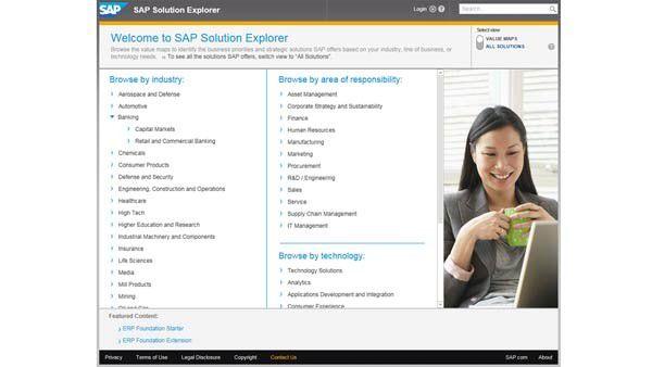 Mit dem SAP Solution Explorer können SAP-Kunden zielgerichtet und schnell Lösungen für spezifische Prozessanforderungen recherchieren.