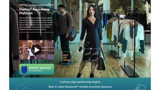 Per iBeacon oder anderen Beacon-Technologien sollen Kunden beim Shopping gezielt angesprochen werden.