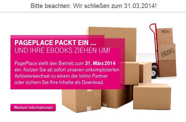 PagePlace macht dicht