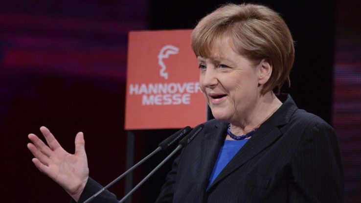 """Bundeskanzlerin Angela Merkel auf der Hannover Messe Industrie 2014: """"Die deutsche Wirtschaft muss sich sputen."""""""