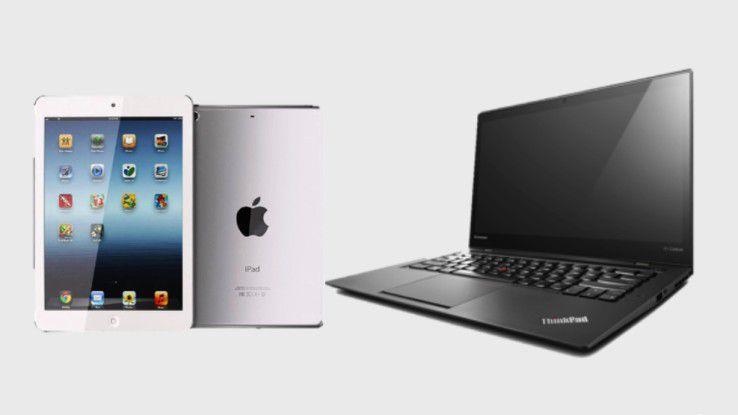 Unter den Teilnehmern der Umfrage verlosen wir ein iPad mini (rund 290 Euro) und ein Ultrabook von Lenovo im Wert von 1150 Euro.