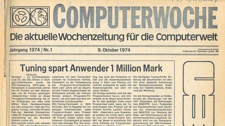 1974: Die erste COMPUTERWOCHE erscheint