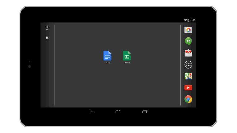 Google Docs und Sheet auf dem Nexus 7