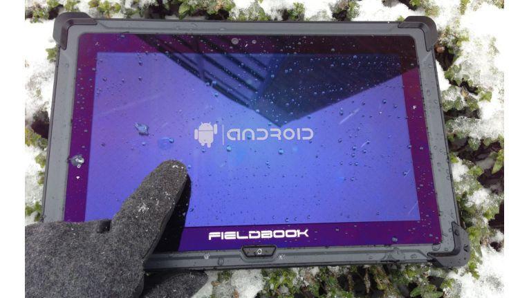 Das Display des Fieldbook E1 ist an die speziellen Anforderungen angepasst.
