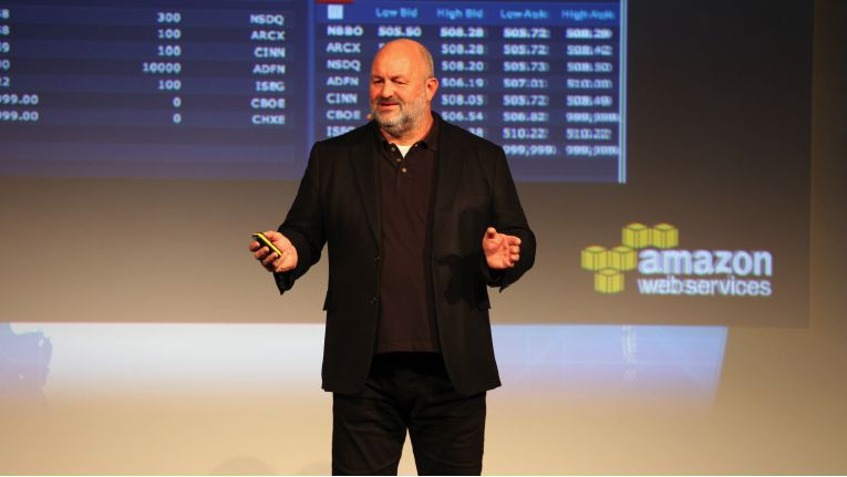 Werner Vogels Amazon beim AWS Summit 2014 Berlin