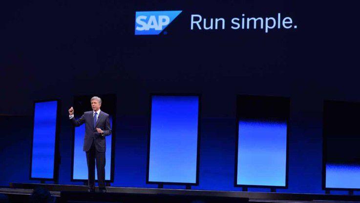 """Für sein neues Motto """"Run simple"""" bringt SAP-CEO Bill McDermott vor allem seine Cloud-Lösungen ins Spiel, macht aber auch wie bei """"Fiori"""" Zugeständnisse an seine Kunden."""