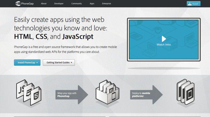 Ein Code, viele Plattformen: Phonegap bietet eine Lösung für die Produktion von hybriden Apps.
