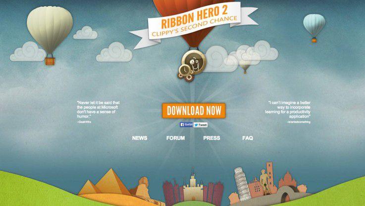 """Anwendungen mit Spielelementen wie """"Ribbon Hero"""" von Microsoft sollen Mitarbeiter dazu animieren, sich weiterzubilden oder bessere Leistungen zu bringen."""