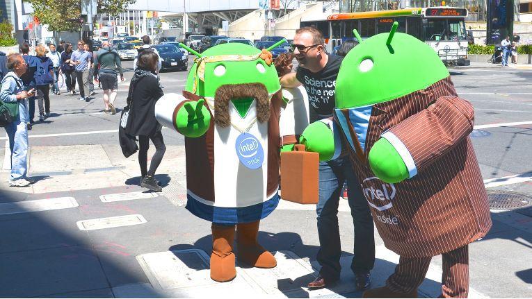Auf der Google I/O in San Francisco geben sich die Android-Entwickler die Klinke in die Hand.