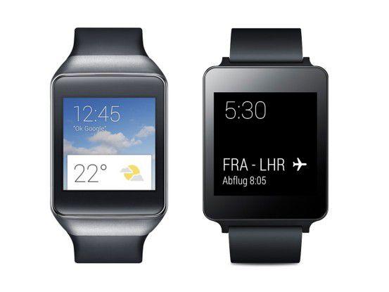 Ab sofort für 199 Euro im Play Store: Samsung Gear Live und LG Watch