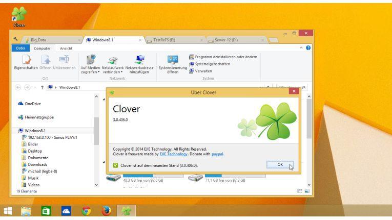 """""""Clover"""" wartet mit einer Google-Chrome-analogen Tab-Verwaltung auf."""