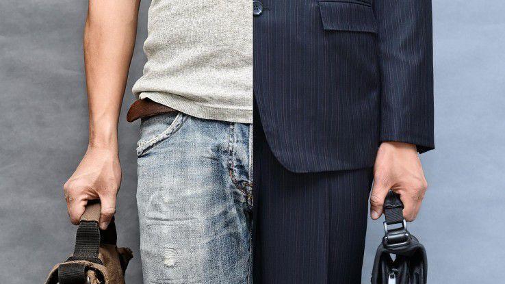 Früher undenkbar, heute immer weiter verbreitet: Chefs in eher legerer Kleidung.