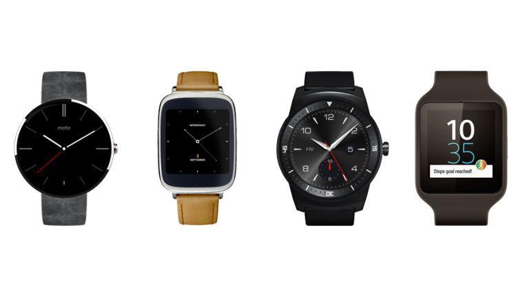 Smartwatches mit Android Wear: Moto 360, Asus Zen Watch, LG G Watch R, Sony Smartwatch 3