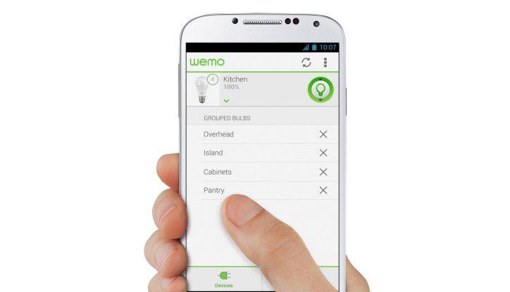 Mit Belkins Wemo-System lassen sich Hausgeräte leicht per App steuern.