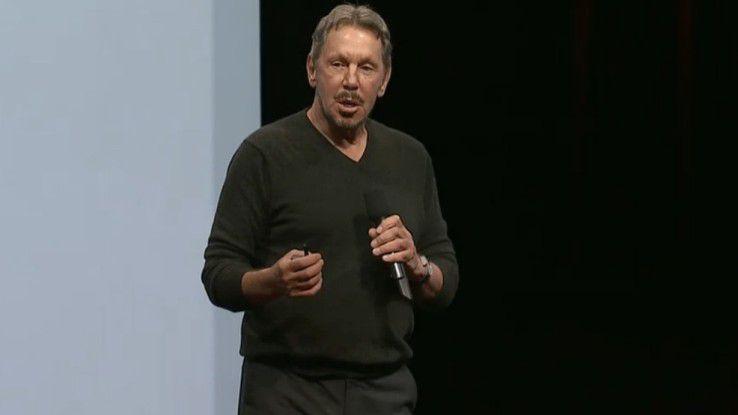 Oracle-Gründer Larry Ellison auf der OpenWorld 2014