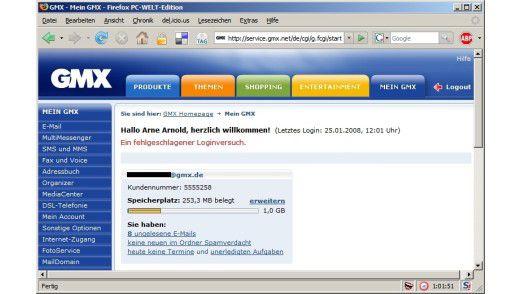 Websites von Freemailern melden vergebliche Log-ins nicht, wenn diese per POP3 stattfanden.