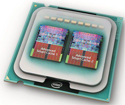 2 x 2 unter der Haube: Intels Vierkerner bestehen intern aus zwei Dual Cores