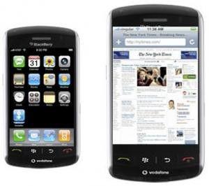 Blackberry Storm mit iPhone-Oberfläche