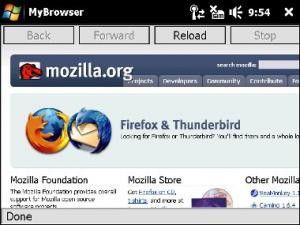 Erste Bilder zeigen Windows-Mobile-Version von Firefox