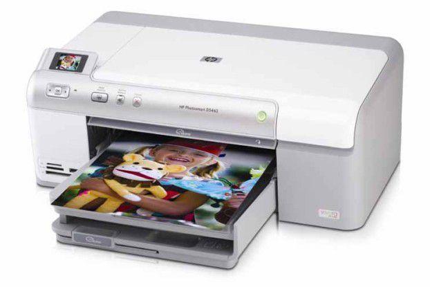 Besitzt gleich zwei separate, schwarze Tinten: HP Photosmart D5460