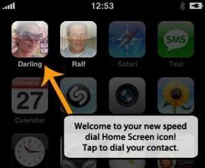 Per Fingerdruck anrufen: Visual Dial für das Apple iPhone.