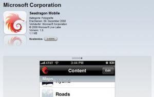 Microsoft entwickelt neue Seadragon-Software zuerst fuers iPhone