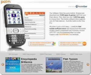 Palm eröffnet Mobile Software Store für Windows Mobile und Garnet OS.