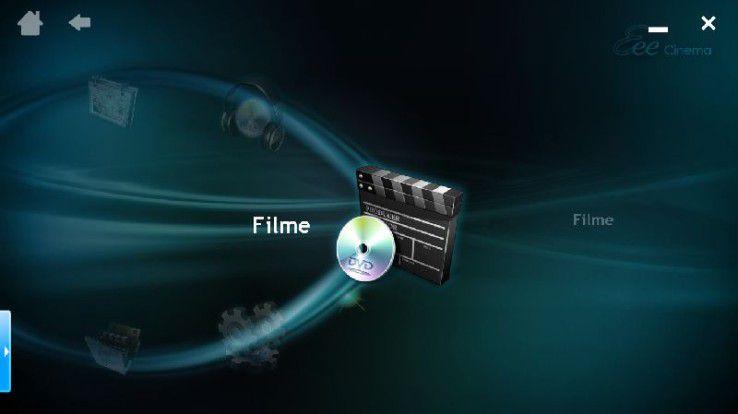 Eee Cinema - die Mediacenter-Oberfläche