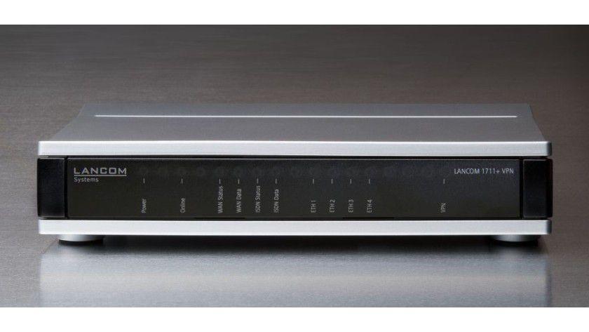 Lancom 1711+ VPN: Router mit viermal LAN samt VLAN-Funktion, USB und ISDN-Schnittstelle. (Quelle: Lancom)