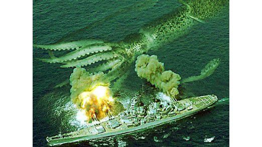 Photoshop: Kriegsschiff und menschliches Auge haben keine Chance.(Bild: Worth1000.com)
