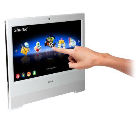 Der Touchscreen des Shuttle X 5000TA