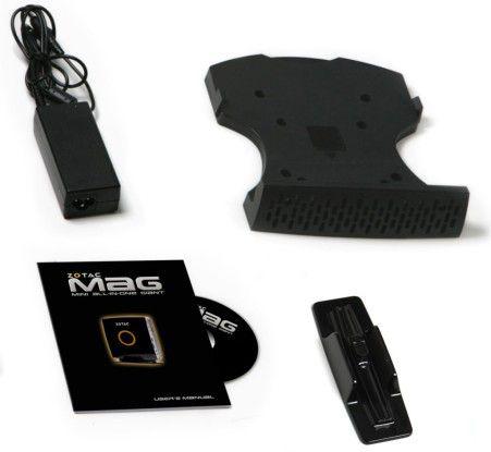 Mager, aber dem Preis angemessen: der Lieferumfang des Nettop Zotac MAG HD-ND01