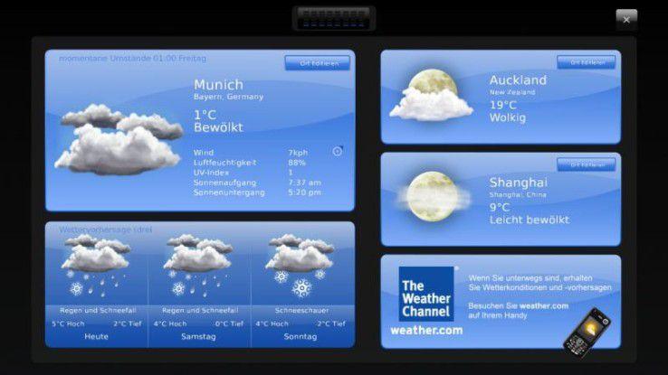 Dell Inspiron One 19 Touch: aktuelle Wetterdaten