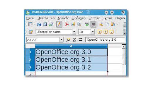 Dateneingabe: Optimierten Autofüllgriff einsetzen.