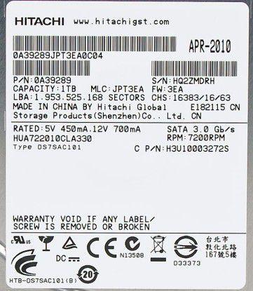 Hitachi Ultrastar A7K2000 (HUA722010CLA330)