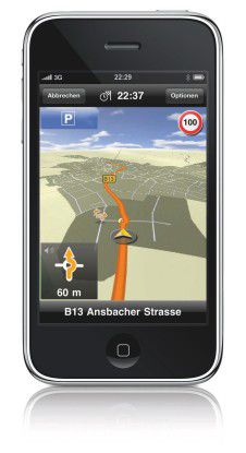 Läuft nun im Hintergrund weiter: MobileNavigator für das iPhone von Navigon.