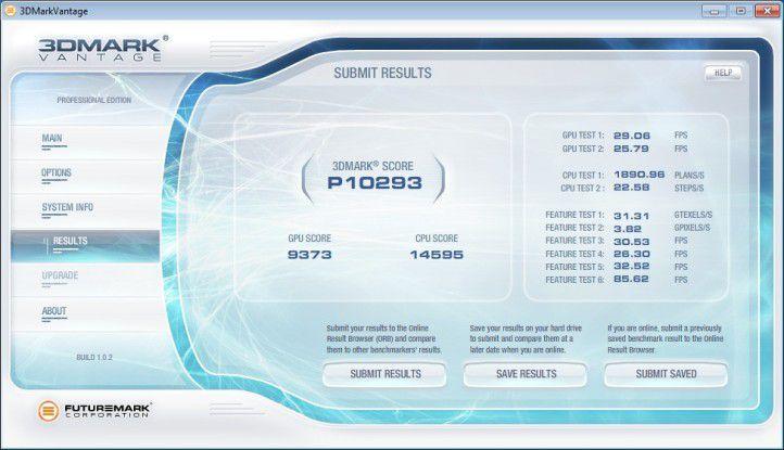 Neobuy PC AMD Phenom II X6 1055T Deluxe: Ergebnis unter 3D Mark Vantage