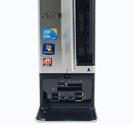 Kartenleser und Frontanschlüsse beim Acer Aspire X5950