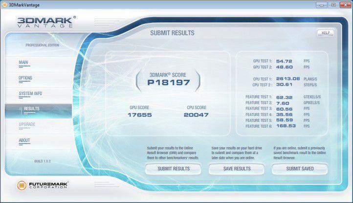Ultraforce X6 1090T - ATI HD5870 SATA3: Ergebnis unter 3D Mark Vantage