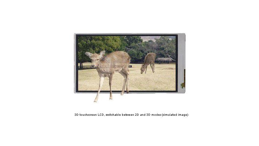 3D-Display: Sharp hat bereits im April 2010 einen 3D-fähigen Touchscreen für Mobiltelefone gezeigt. (Quelle: Sharp)
