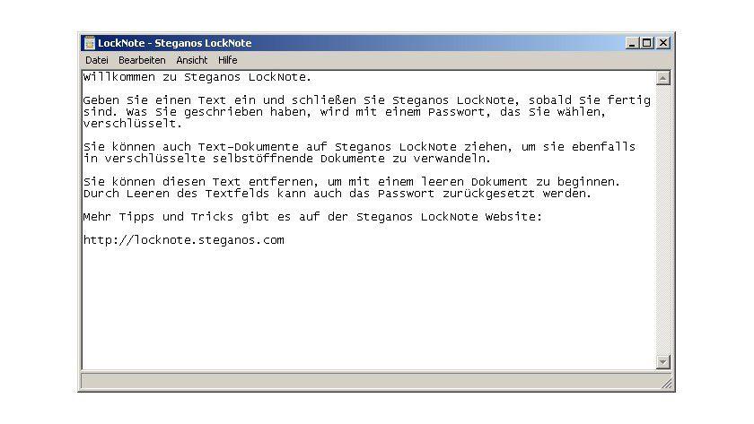 LockNote: Mit dem Tool lassen sich Notizen vor unbefugten Zugriffen schützen.