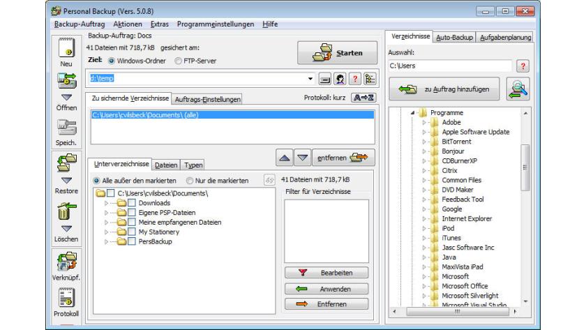 Update Puresync Daten Sichern Und Synchronisieren Festplatten