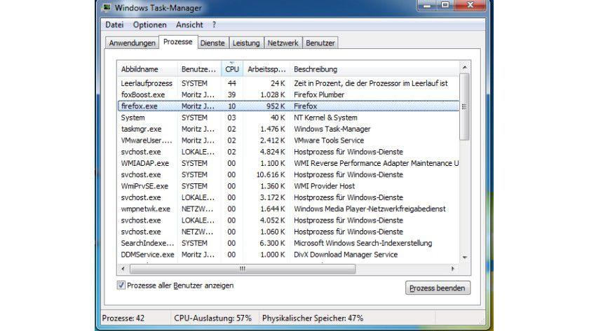 Umgeleitet: Firemin räumt Platz im Arbeitsspeicher frei und nutzt dafür das Windows-Pagefile.