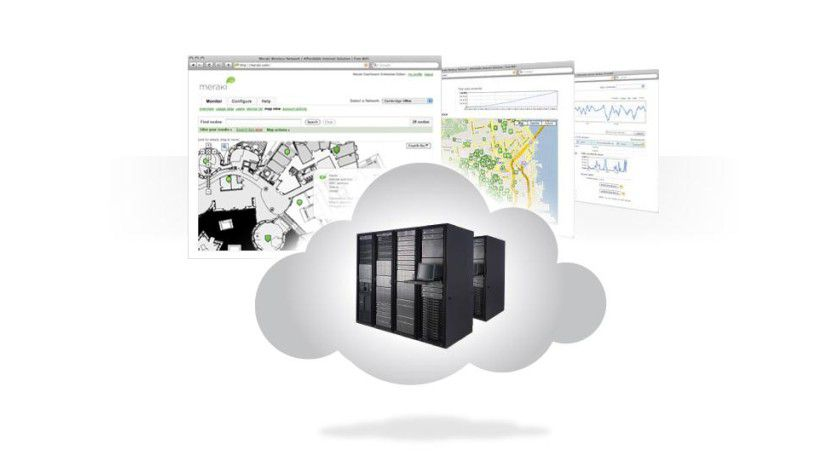Verlagerung: WLAN-Switches oder -Controller benötigt der Anwender bei der Meraki-Lösung nicht. Die Steuerlogik ist in das Rechenzentrum in der Cloud ausgelagert.
