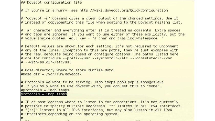 Protokoll festlegen - Mailserver für Linux: Workshop - IMAP-Server ...