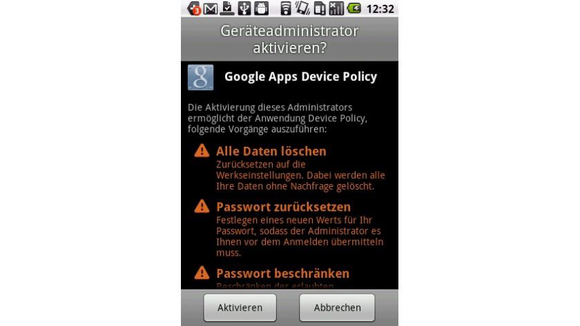 Praktisch: Android-Geräte lassen sich zentral mit Google Apps Device Policy verwalten.