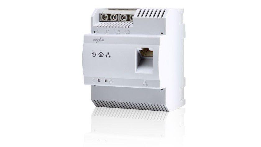 Montage vom Elektriker: Der dLAN 200 AVpro DINrail von Devolo passt in normale Elektroverteilerkästen.