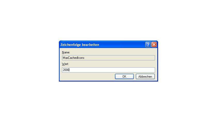 Wiederherstellen: Um die Windows-Icons wieder wie gewohnt darzustellen, muss der Anwender in der Registry den Wert für den Icon-Cache erhöhen.