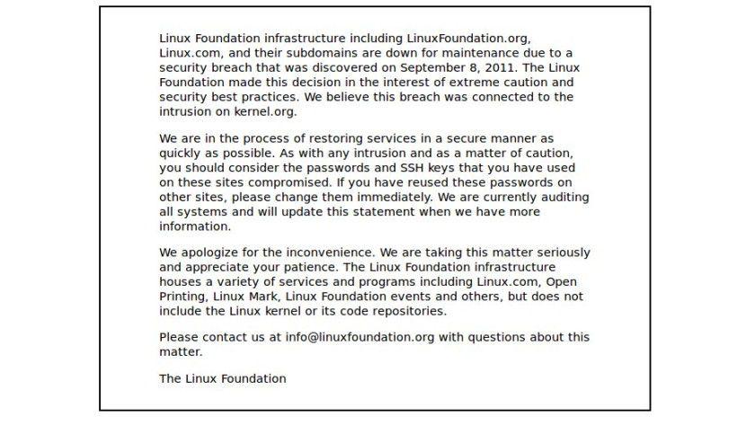 linux.com: Aus Sicherheitsgründen derzeit deaktiviert.