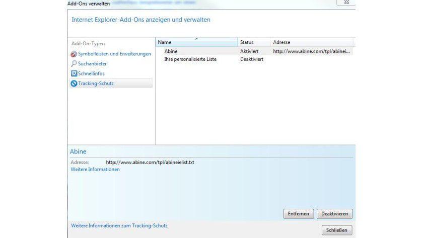 Bitte nicht verfolgen: Sobald man eine Tracking Protection List nutzt, aktiviert der IE9 die Do-Not-Track-Funktion automatisch.